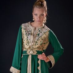 Morrocan Kaftan, Moroccan Dress, Satin Duchesse, Kaftan Abaya, African Fashion, Sari, Glamour, Indian, Style Inspiration
