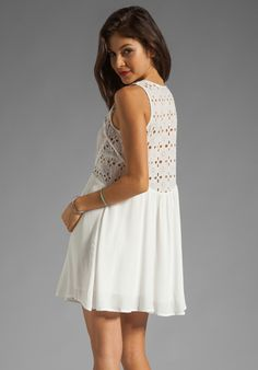 WISH Serene Dress in White Embroidery at Revolve Clothing - Free Shipping!
