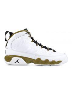 46de55c8f01 Nike Air Jordan 9 Retro Bg Gs Statue White Black Militia Green Outlet Jordan  9 Retro