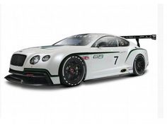 The Burago 1/24 Bentley GT3 is a diecast model car from the Burago 1/24 scale range. This incredibly detailed diecast model of the Bentley motorsport coupe is packed with superb detail and features from the spoiler to the hood. The amount of detail is astonishing and sure to excite model collectors who love cars and motorsports.