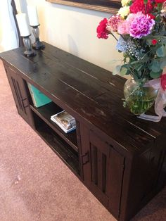 Reclaimed wooden TV stand/ Entertainment Center by WCSD on Etsy