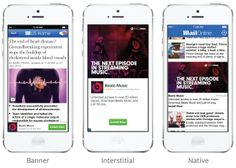 Banner vs native advertising on mobile nicely explained in this graphic from f8  #Facebook  #Marketing