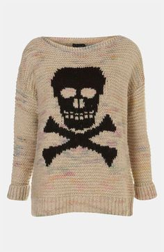 Topshop 'Skull' Sweater available at #Nordstrom