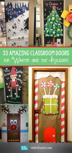 33 Amazing Classroom Doors for Winter and Holidays - . - 33 Amazing Classroom Doors For Winter And Holidays – holidays - Teacher Door Decorations, Holiday Door Decorations, Classroom Decor, The Grinch Door Decorations For School, Christmas Decorations For Classroom, Preschool Christmas, Christmas Art, Christmas Projects, Christmas Door Decorating Contest
