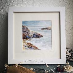 Ocean Art, Sea Glass Jewelry, Contemporary Art, Irish, Mixed Media, Studio, Frame, Painting, Design