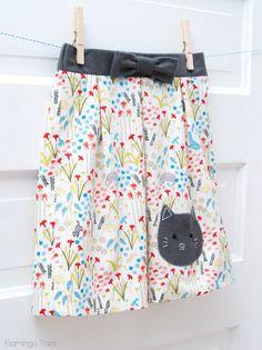 Girls Kitty Skirt