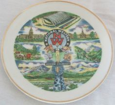 Nation Western Stock Show & Rodeo souvenir plate found on Ebay.
