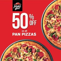 Check out Pizza Hut's EVERY WEDNESDAY treat!  Get 50% OFF on all Pan Pizzas every Wednesday! Enjoy your favorite Pan Pizzas half the price every Wednesday of August 2016!  Order online via pizzahut.com.ph or CALL 911-11-11.  http://mypromo.com.ph/