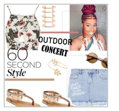 """""""60 Second Style: Outdoor Concert"""" by styledbytrell on Polyvore featuring Love, MANGO, Penny Loves Kenny, Miss Selfridge, Karine Sultan, 60secondstyle and outdoorconcerts"""