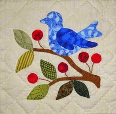 Anyone else out there getting nervous about Christmas? I have gotten started.here are three little applique blocks from a Lori. Bird Applique, Applique Quilt Patterns, Applique Designs, Embroidery Applique, Bird Quilt Blocks, Art Fil, Small Quilts, Square Quilt, Quilting Projects