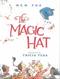 The Magic Hat by Mem Fox. A great book to learn about rhyme. A child 54- 60 months is able to tell whether or not two words rhyme (e.g. cat/book vs cat/hat) and Rhymes words (e.g. Tell me something that rhymes with cat). Try reading each page to your child and seeing if they can guess the rhyming animal that the hat will land on. It is also a lovely book for looking at prepositions on/off, over/under/ through. A child 12-18 months begins to use on and off.