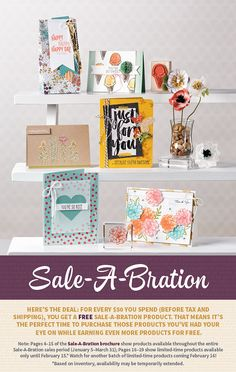 Don't miss out on the Sale-A-Bration offering! For every qualifying order, you can select items from this brochure!