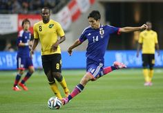 Yoshinori Muto - FW - #14 KIRIN CHALLENGE CUP Japan vs. Jamaica at DENKA BIG SWAN STADIUM 2014-10-10