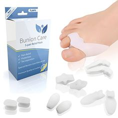 BunionCare 10 Piece Bunion Pad and Toe Straightener Kit. Extremely Soft Bunion Pads for Hallux Valgus / Bunion Pain Relief. Effective as Bunion Corrector & Toe Spacer for Big Toe and Tailor's Bunion / Bunionette Bunion Relief, Pain Relief, Bunion Remedies, Tailors Bunion, Bunion Pads, Gel Toes, Face Wrinkles, Feet Care, Thing 1