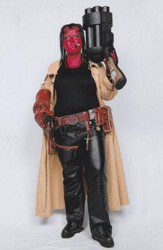 Female Hellboy cosplay