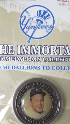 NY YANKEES,NY POST THE IMMORTALS 2005 MEDALLION , WHITEY FORD, COLLECTIBLE #NewYorkYankees