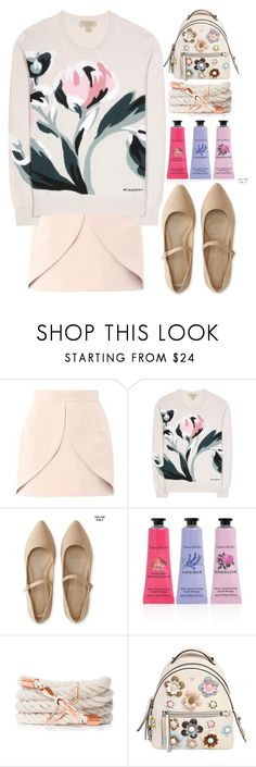 """""""100"""" by erohina-d ❤ liked on Polyvore featuring Balenciaga, Burberry, Aéropostale, Crabtree & Evelyn and Fendi"""