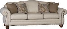 Mayo Furniture 3180F Fabric Sofa - Sugarshack Almond