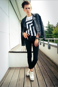 monochrome Optical black and white t shirt by librastyle