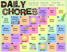 Chores Kids Will Love For Their Age – Printable