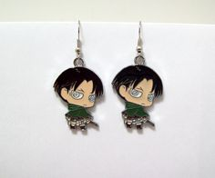 Attack on Titan earrings geek anime anime by Eternalelfcreations, $8.00