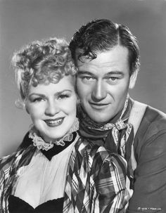 Another great film for Claire Trevor was Stagecoach the year of super great films. The movie also starred John Wayne his break through performance,. Hollywood Couples, Hollywood Stars, Classic Hollywood, Old Hollywood, Hollywood Icons, Barbara Eden, I Dream Of Jeannie, John Wayne, Michael Ansara