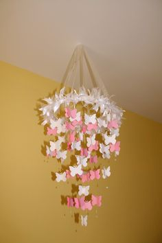 Pretty paper #butterfly #mobile.  #nursery