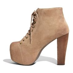 Jeffrey Campbell 'Lita' Suede Bootie Womens Taupe Suede Size 10.5 M... ($160) ❤ liked on Polyvore