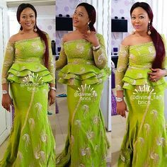 Isss a wawooo! Thanks for these lovely pics. Your Always a sweetheart Making our customers stand out dis christmas Quality over quantity. African Lace Styles, African Lace Dresses, Latest African Fashion Dresses, African Dresses For Women, African Print Fashion, Africa Fashion, African Attire, African Wear, African Women