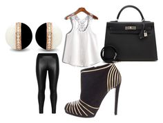 """Untitled #2"" by dizdarevicnermina ❤ liked on Polyvore featuring Zizzi, Sergio Rossi and Hermès"