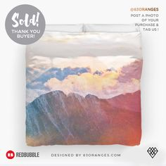 Just sold a King-size Duvet Cover with my artwork titled 'Mountain Glory'! Order yours or see all #redbubble products carrying this design here: https://www.redbubble.com/people/83oranges/works/21238858-mountain-glory-redbubble-lifestyle-tech?p=duvet-cover&size=king