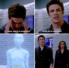 The Flash 1x20 - the conversation between the Barry and Gideon was a fantastically shot scene