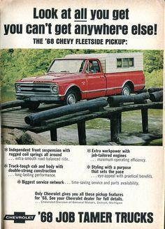1968 Chevrolet Fleetside Pickup Truck Advertisement Readers Digest November 1967 | Flickr - Photo Sharing!
