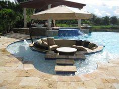 Amazing pool lounge.