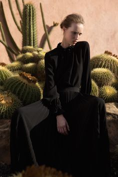 Love the setting and moody dark looks in the Co Pre-Fall 2016 shoot
