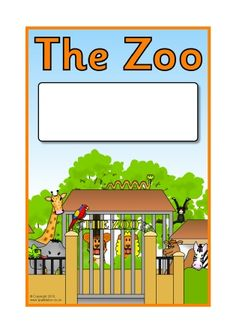 The Zoo Editable Topic Book Covers (SB11556) - SparkleBox