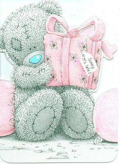 ME TO YOU BELATED BIRTHDAY TATTY TEDDY BEAR SORRY ITS LATE !