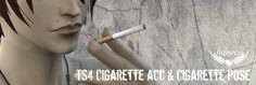 Lana CC Finds - haneco410: TS4 Cigarette acc & Cigarette pose ...