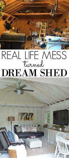 Turning our real life mess into our Dream Shed Makeover! Click the photo to see tons of photos and all of the project details.