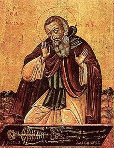 Hermit-Monk Sisoi the Great lived 60 years in the Egyptian wilderness, and attained such a level of spiritual purity that his prayers even brought a dead child back to life. On his deathbed his face started to shine, and he told his followers he could see the Apostles and the Prophets, and, as he became even more humble, his face shone even brighter, and he saw Almighty God, and died (+ 429 AD).