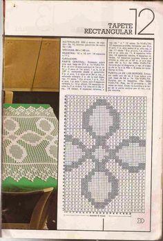 #283 Tapete rectangular a Crochet o Ganchillo