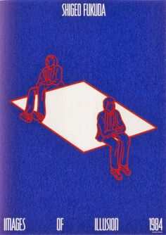 """Shigeo Fukuda's """"Impossible Seating"""" Illusion - from opticalillusioncollection"""