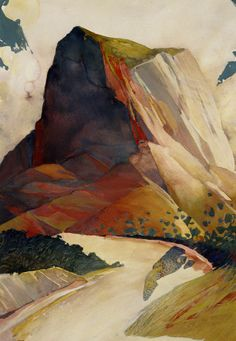 Badlands watercolor Randall David Tipton