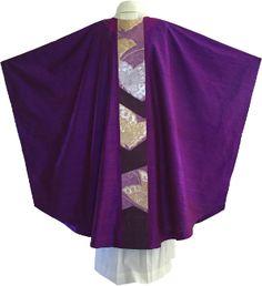 Modern Purple chasuble by Ilex designs