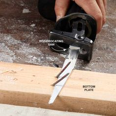 Cut Off the Nails On the Plates: How to Remove a Wall and Other Demolition Tips Read more: http://www.familyhandyman.com/smart-homeowner/diy-home-improvement/how-to-remove-a-wall-and-other-demolition-tips