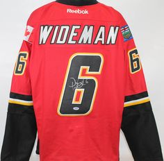 """Dennis Wideman Autographed Calrgary Flames Jersey PSA/DNA COA.. Use Promo Code """"PBS15"""" and get 15% off purchases #UltimateAutographs"""