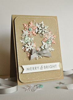 We love this card that Michelle made. Stunning colours, great idea!