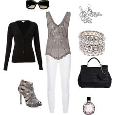 """""""grey white and black"""" by missyalexandra on Polyvore"""