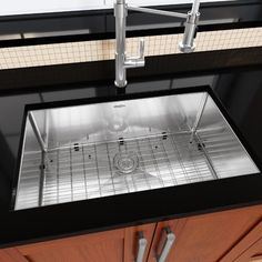 "Ancona Prestige Series Stainless Steel 30"" x 18"" Single Bowl Undermount Kitchen Sink with Grid and Strainer"