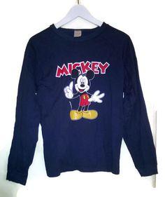 Vintage 90s T shirt MickeyMouse Disney Blue Big by VirtageVintage